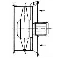 Axiální ventilátor APT 800, 1000